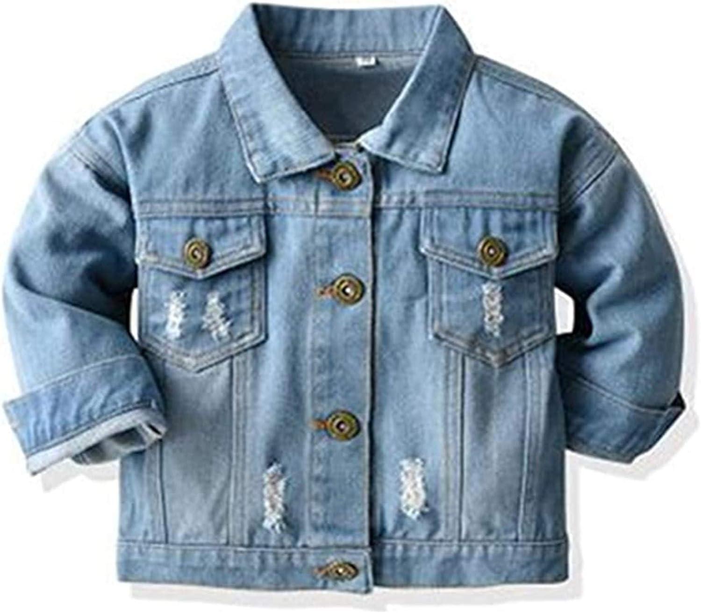 QINYI Toddler Popularity Baby Jacket Max 62% OFF Children Coat Unisex Denim