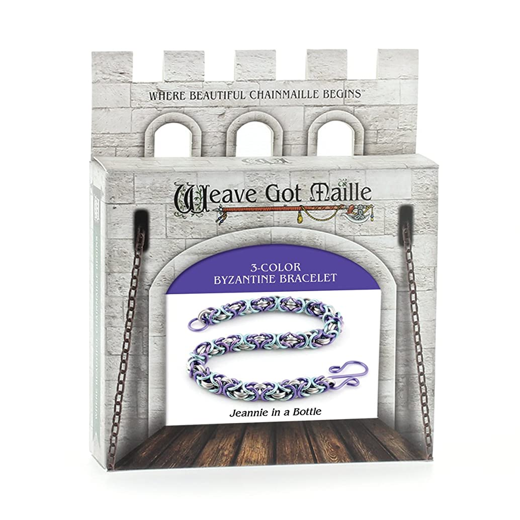 Weave Got Maille KIT-130.07 3-Color Byzantine Chain Maille Bracelet Kit, Jeannie in A Bottle