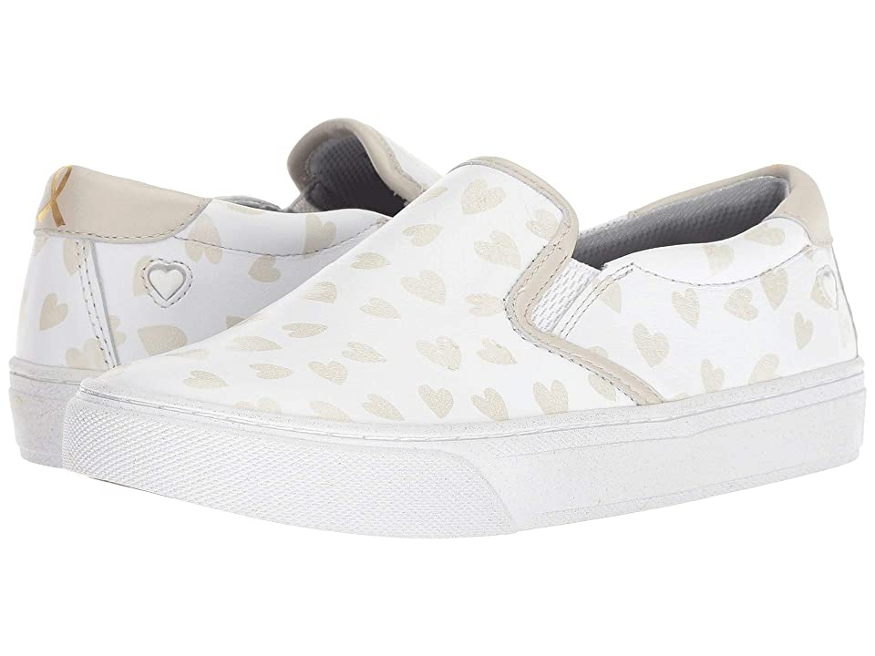 Nurse Mates Limited Edition 2018 Childhood Cancer Campaign Slip-On (White/Hearts) Women