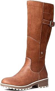 Camfosy Botas para Mujer Botas de Invierno hasta la Rodilla Botas Altas con Forro de Piel Zapatos cálidos de tacón bajo Bo...