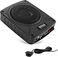 BOSS Audio Systems BAB8 Amplified Car Subwoofer - 800 Watts Max Power, Low Profile, 8 Inch Subwoofer, Remote Subwoofer Control, Great for Vehicles That Need Bass But Have Limited Space