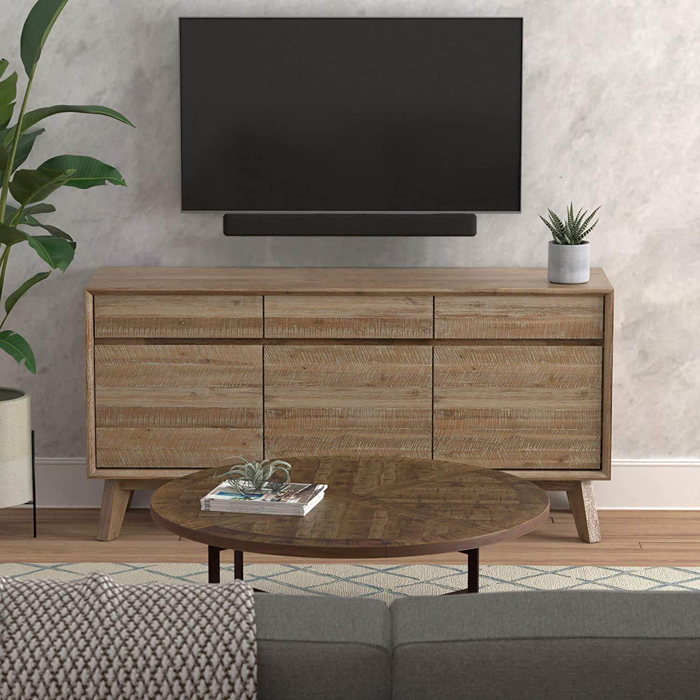 AmazonBasics - Soporte para barra de sonido de televisor, universal, ajustable, montaje superior o inferior, color negro: Amazon.es: Electrónica
