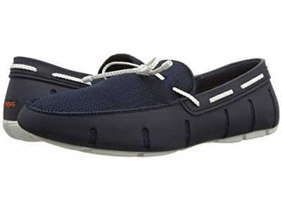 SWIMS Braided Lace Loafer (Navy/White) Men