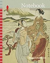 Notebook: Pausing to admire Mt. Fuji (parody of Ariwara no Narihira's journey to the east), c. 1768/69, Suzuki Harunobu 鈴木...