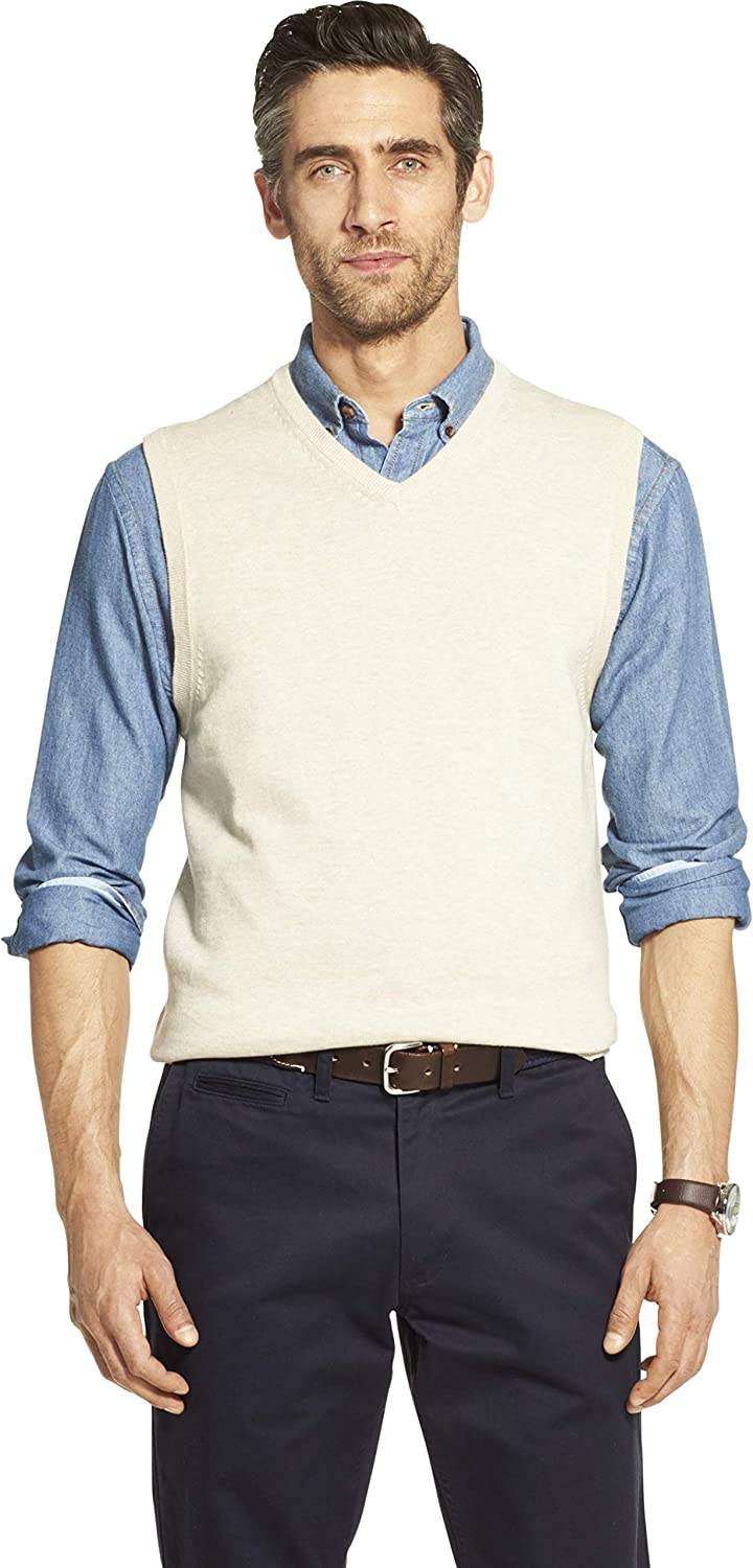 IZOD Mens Premium Essentials Solid V-Neck 12 Gauge Sweater Vest