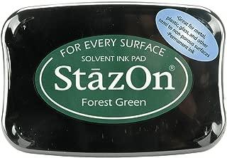 Tsukineko Full-Size StazOn Multi-Surface Inkpad, Forest Green (SZ000099)