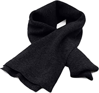 "State Cashmere Men's 100% Cashmere Solid Color Winter Wrap Scarf, Ultimate Soft and Cozy 70"" x 7"""