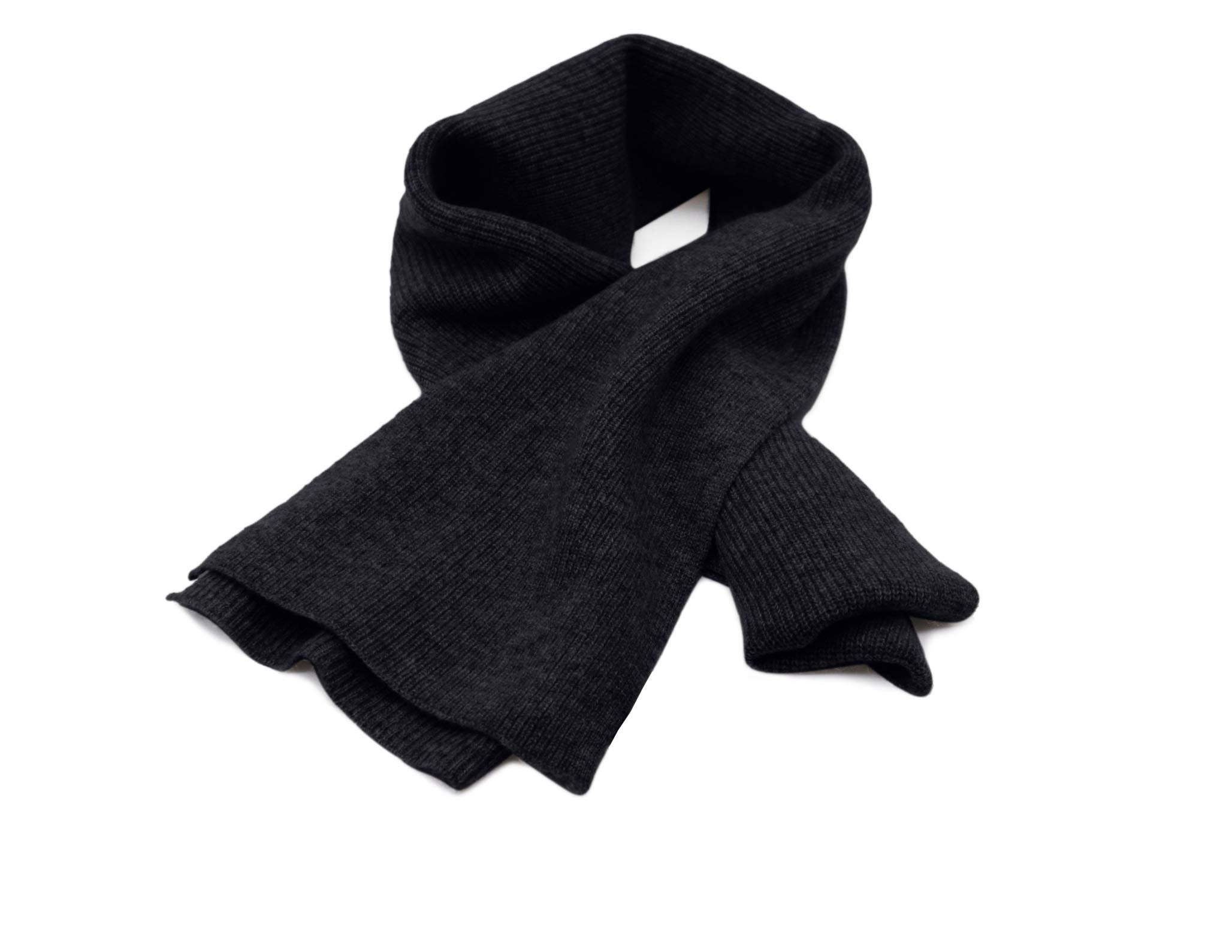Details about  /State Cashmere Men/'s Classic Ribbed Solid Scarf 100/% Pure Cashmere Ultra Soft Wi