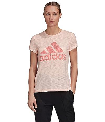 adidas Winners Short Sleeve Crew Tee (Haze Coral Melange) Women