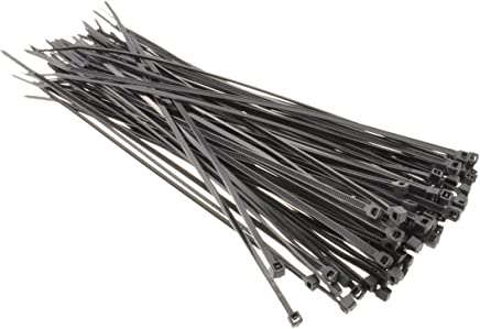 Black Cable Ties 160mm x 2.5mm Flexible & Secure Pack of 100