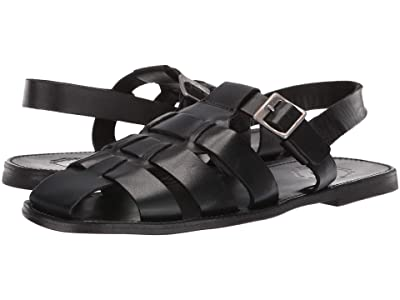 Grenson Quincy Buckle Sandal (Black Calf) Men