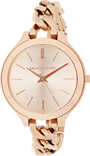 Michael Kors Womens Quartz Watch, Analog Display and Leather Strap MK2469