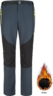 ZHI MADE Womens Fleece Lined Hiking Pants Waterproof Windproof Snow Ski Pants Thermal Softshell Outdoor Pants