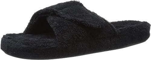 Acorn Slip-on Pantoufles pour pour Les Femmes X-Grand B 09 05 à 10 05 (M) Noir  connotation de luxe discret
