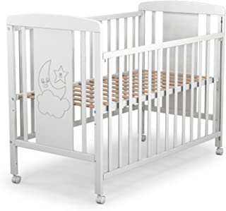 Cuna para bebé, modelo cielo. 1 lateral abatible y 3