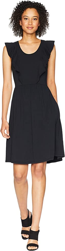 Mod-o-doc Cotton Modal Spandex Jersey Flutter Sleeve Tank Dress with Pockets
