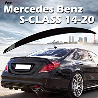 olltoz Piano Gloss Black Rear Trunk Lid Duckbill Spoiler Wing Compatible with Mercedes Benz W222 2014-2020 S Class Sedan S450 S550 S560 S63 4 Door 2015 2016 2017 2018 2019