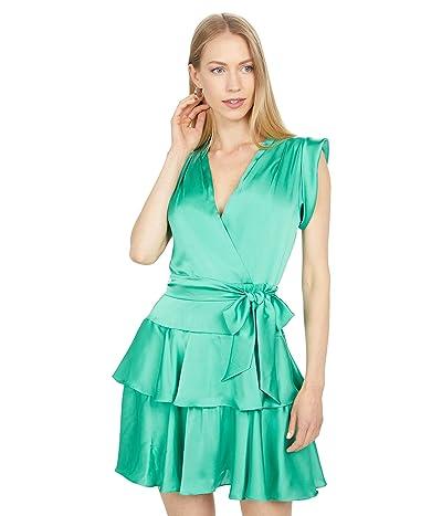 BCBGMAXAZRIA Ruffle Skirt Cocktail Dress