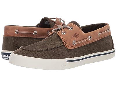 Sperry Bahama II Corduroy Sneaker (Olive) Men
