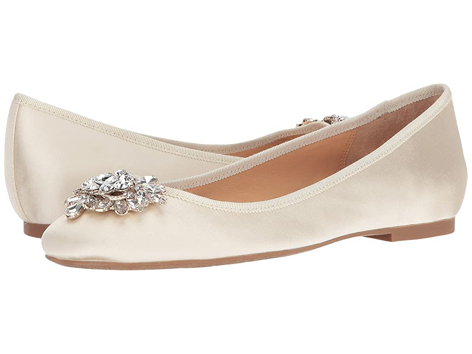 Badgley Mischka Bianca (Ivory Satin) Women