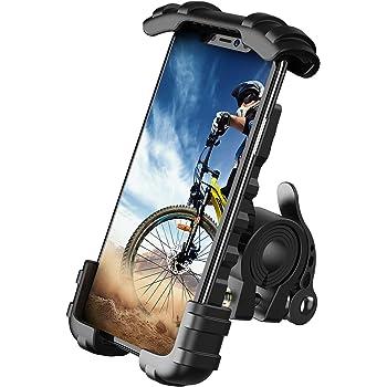 【2020改良版】 片手操作 自転車用 スマホ ホルダー スタンド Lomicall 2020 自転車 ワンタッチ スマートフォンホルダー : ロードバイク クロスバイク バイク すまほ ホルダー, サイクリング フォルダー, バイク用 スマホ固定, 携帯 置き, 携帯電話, ケータイ, bike phone mount, smartphone holder, 防振, 落下防止, けいたい, アイフォン, アンドロイド, エクスぺリア, サイクリング, iphone8 , iphone7 , iphonex, iPhone 11, 11 Pro, 11 Pro Max, 11 プロ マックス, 10, XS XS Max XR X 8 7 7plus 6 6s 6plus , galaxy s8 s9, HUWEI Mate P20 Pro P10 lite, Sony Xperia 1, Nexus, android, 4.7 6.1 6.8 インチ アンドロイド 対応