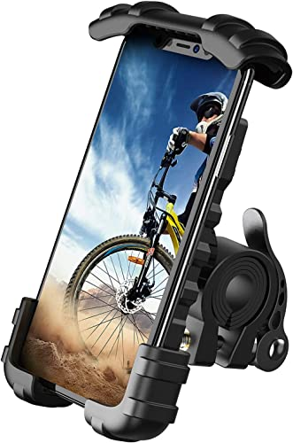 Bike Phone Holder, Motorcycle Phone Mount - Lamicall Motorcycle Handlebar Cell Phone Clamp, Scooter Phone Clip for Ph...