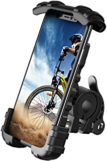 "Phone Holder Mount for Bike Handlebar - Lamicall Motocycle Cell Phone Clamp, Scooter Phone Mount for iPhone 11/ iPhone 11 Pro/iPhone 11 Pro Max, Samsung S10 and More 4.7"" - 6.8"" Smartphones"