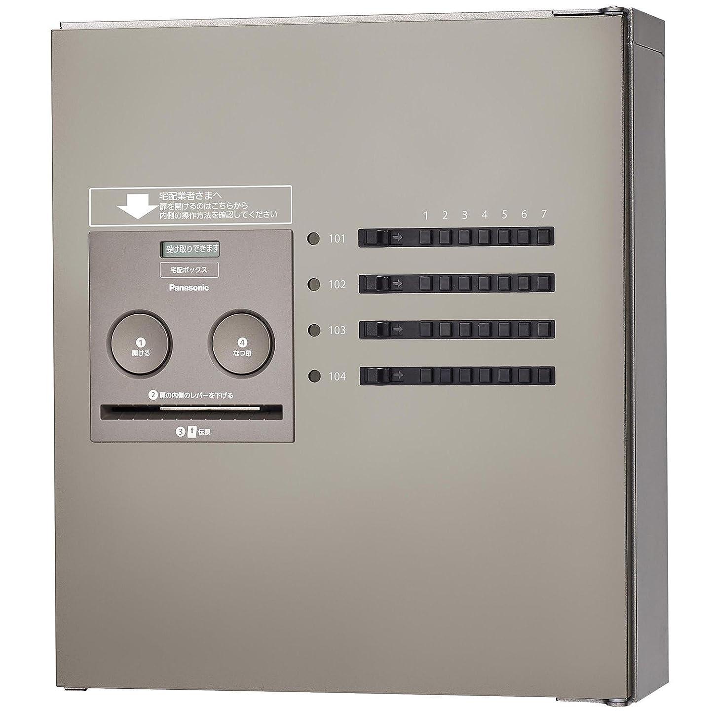 貫通するおとなしい母パナソニック(Panasonic) 集合住宅用宅配ボックス COMBO-Maison コンパクト 8錠 (前出し) 左開き ステンシルバー CTNR4840LSC