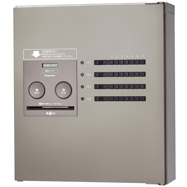 パナソニック(Panasonic) 集合住宅用宅配ボックス COMBO-Maison コンパクト 8錠 (前出し) 左開き ステンシルバー CTNR4840LSC