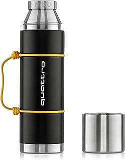 Audi 3292000600 Trinkflasche Sport Isolierflasche Quattro Schriftzug 640ml, schwarz/gelb