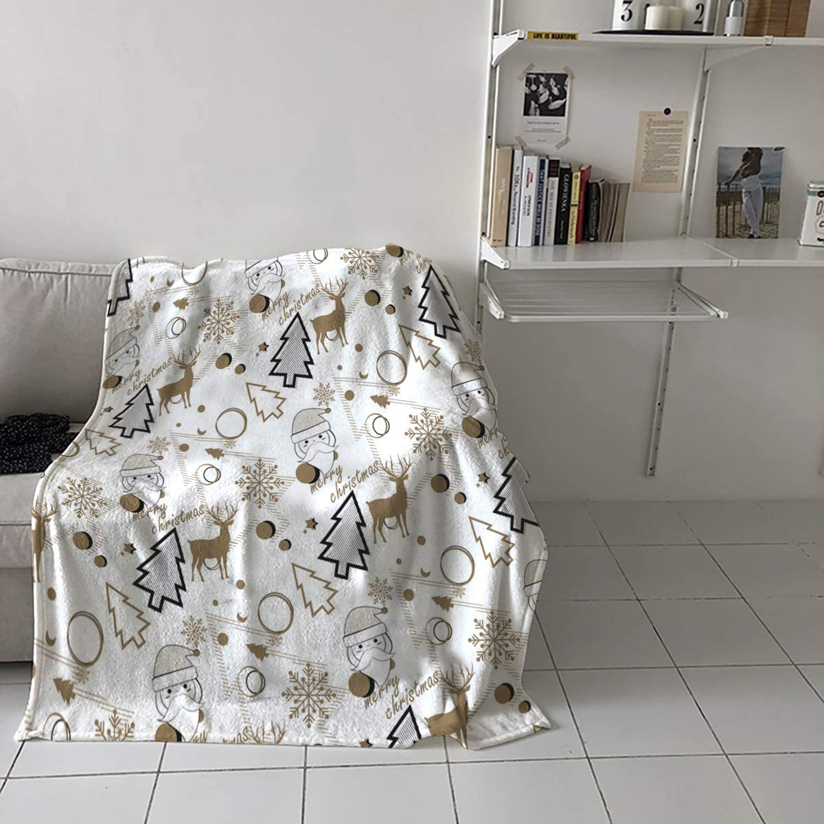 60x80in Throw Blanket Choice Long-awaited for Adults Kids Santa - Christmas Cl Theme