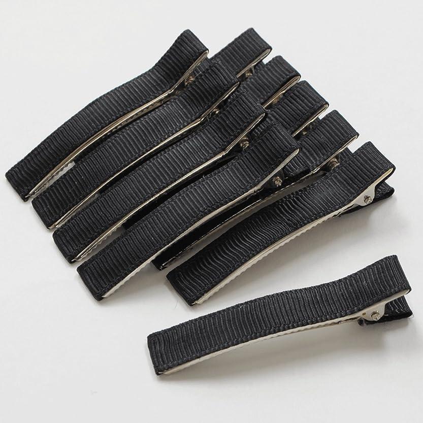 電気的無意識午後ヘアークリップ 10個入り 約6センチ ヘアピン ヘアーピン ヘアクリップ ヘアアクセサリー (ブラック)