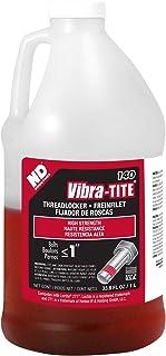 Best Vibra-TITE - 14000 140 Permanent High Strength Anaerobic Threadlocker, 1 liter Jug, Red Review