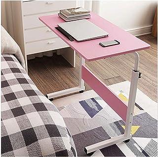 Rolling Computer Desk Mobile Standing Desk Rolling Workstation Cart Height Adjustable Home Bedside Laptop Overbed Table (C...