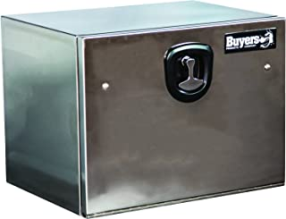 Buyers Products Polished Stainless Steel Underbody Truck Box w/ T-Handle Latch (18x18x24 Inch)
