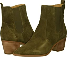 Military Green Velour Suede Leather