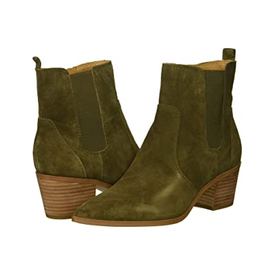 Franco Sarto Sienne (Military Green Velour Suede Leather) Women