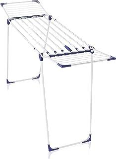 Leifheit Séchoir sur pied Classic Solid 230 Extendable, étendoir à linge pour longues pièces de linge, sèche linge avec lo...