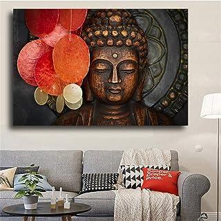Imprimé Sur Toile,Peinture À L'Huile Sur Toile Impressions D'Affiches Pour Le Salon Zen Bouddha Moderne Impression Motif G...