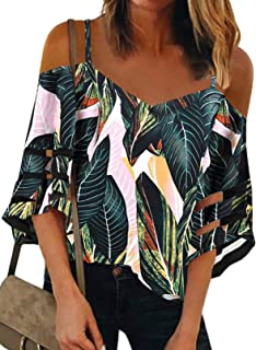 Womens  Cold Shoulder Floral Layered Top Ladies Cut Out Print New 14-32