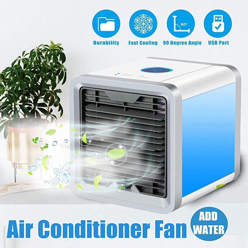 Air Cooler Personal Air Conditioner Cooler, Portable Mini Size Table Fan for Office