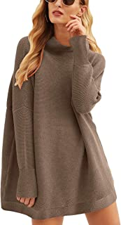 Women Casual Turtleneck Batwing Sleeve Slouchy Oversized...