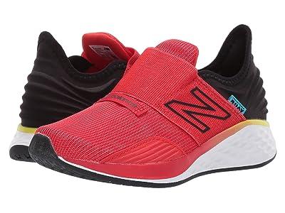 New Balance Kids Fresh Foam Roav Boundaries Hook and Loop (Little Kid) (Velocity Red/Black) Boys Shoes