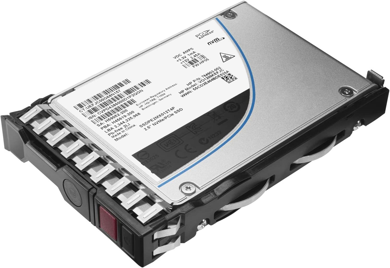 HP Office Mixed Use-3 Max 43% Excellent OFF Solid Serial_Interf - Hot-Swap State Drive