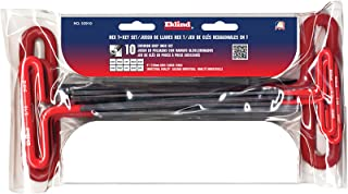 EKLIND 53910 Cushion Grip Hex T-Key allen wrench - 10pc set SAE Inch Sizes 3/32-3/8 9in series