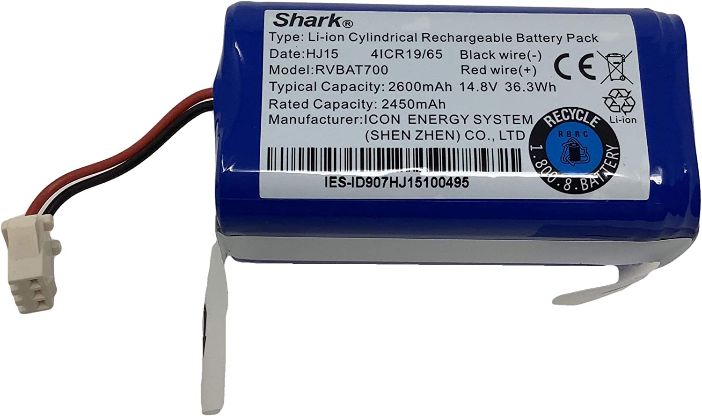 SALE開催中 Genuine Shark 14.8V 2.6Ah 2600mA 送料無料カード決済可能 with RVBAT700 Battery Li-ion