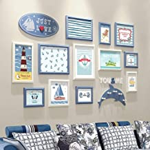 Photo Wall Creative Living Room Blue Decorative Gift Modern Art Photo Frame Photo Wall (Color : B)