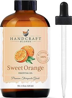 Handcraft Sweet Orange Essential Oil - 100 Percent Pure and Natural - Premium Therapeutic Grade with Premium Glass Dropper - Huge 4 oz