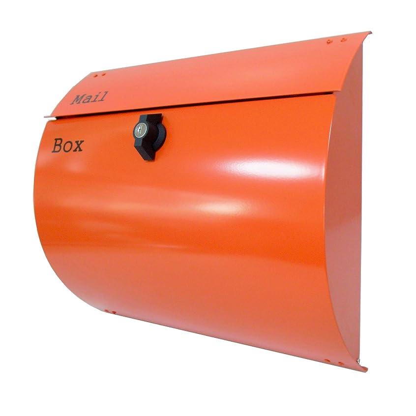 油軽減倫理的アイホーム(Ihome) 郵便ポスト 06-1 pm063-1 大容量 オレンジ 奥行12×高さ33×幅38cm