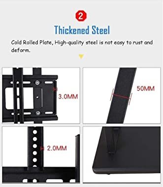 Universal Table top TV Stand TV Cart for 32-75 Inch TV - Rolling Trolley Mount TV Stand for Flat Screen TV with Wheels and Sh